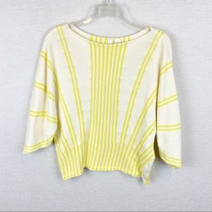 ANTHRO | MOTH Palma Dolman Crop Sweater in Yellow